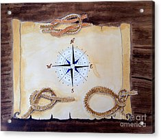 Acrylic Print featuring the painting Nautical by Eva Ason