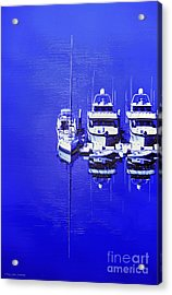 Nautical Reflections Acrylic Print by MaryJane Armstrong