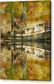 Nautical Timepiece Acrylic Print by Betsy Knapp