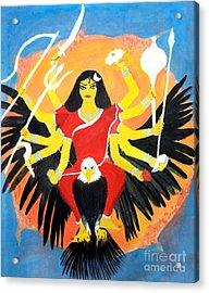 Nava Durga Chandraghanta Acrylic Print by Pratyasha Nithin