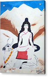 Nava Durga Mahagauri Acrylic Print