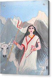 Nava Durga Shailputri Acrylic Print by Pratyasha Nithin
