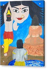 Nava Durga Siddhidaatri Acrylic Print by Pratyasha Nithin