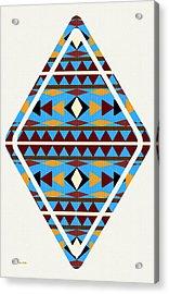 Navajo Blue Pattern Art Acrylic Print