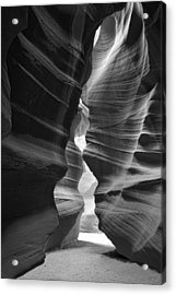 Antelope Canyon Black And White Acrylic Print