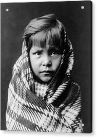 Navajo Child Acrylic Print by Aged Pixel
