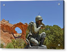 Navajo Code Talker - Window Rock Az Acrylic Print by Christine Till