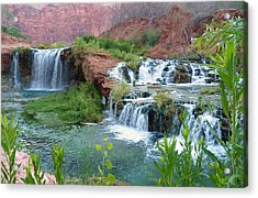 Acrylic Print featuring the photograph Navajo Falls by Alan Socolik
