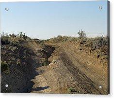 Navajo Two Track Acrylic Print by Feva  Fotos