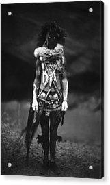 Navajo Warrior Circa 1904 Acrylic Print by Aged Pixel