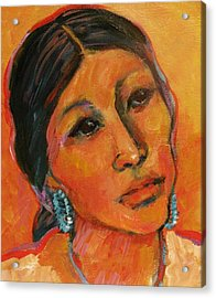 Navajo Woman Acrylic Print