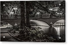Navarro Street Bridge At Night Acrylic Print