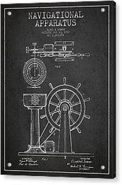 Navigational Apparatus Patent Drawing From 1920 - Dark Acrylic Print