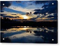 Navy Blue Sunset Acrylic Print