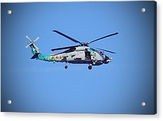 Navy Jaguar Helicopter Acrylic Print