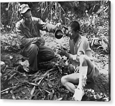 Navy Medic Assists Pow Acrylic Print by Underwood Archives