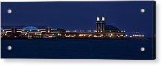Navy Pier At Twilight Acrylic Print by Andrew Soundarajan