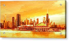 Navy Pier Chicago --autumn Acrylic Print
