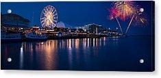 Navy Pier Fireworks Chicago I L Acrylic Print by Steve Gadomski