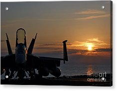 Acrylic Print featuring the photograph Navy Super Hornet by John Swartz
