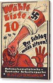 Nazi Party Anti-semitic Poster Acrylic Print
