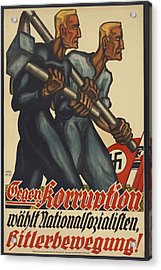 Nazi Party Poster For The German Acrylic Print