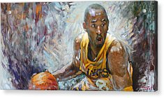 Nba Lakers Kobe Black Mamba Acrylic Print by Ylli Haruni