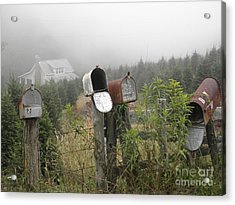 Acrylic Print featuring the photograph Nc Mailboxes by Valerie Reeves