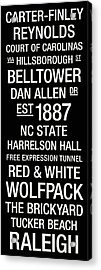 Nc State College Town Wall Art Acrylic Print by Replay Photos