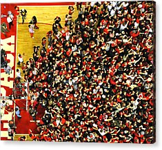 Nc State Fans Celebrate At Pnc Arena Acrylic Print by Replay Photos