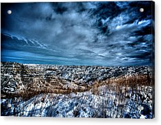 Nd Bad Lands Acrylic Print by Kevin Bone