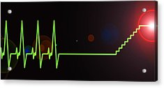 Near-death Experience, Heartbeat Trace Acrylic Print by Science Photo Library