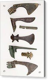 Near East Bronze Age Axes Acrylic Print by Paul D Stewart