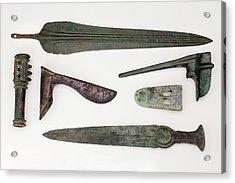 Near East Bronze Age Weapons Acrylic Print by Paul D Stewart