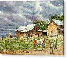 Near Taos Acrylic Print by Paul Krapf