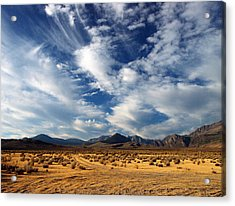 Near The Intersection Of God And The Eastern Sierras Acrylic Print