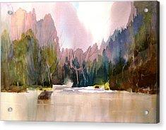 Near Yosemite Acrylic Print by Larry Hamilton