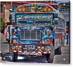 Neat Panamanian Graffiti Bus  Acrylic Print by Eti Reid