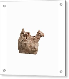 Nebatean Terracotta Vessel Acrylic Print by Science Photo Library