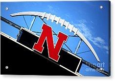 Nebraska Husker Memorial Stadium Acrylic Print