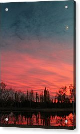 Acrylic Print featuring the photograph Nebraska Night by Alicia Knust