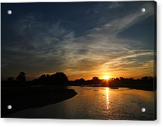 Nebraska River Acrylic Print by Alicia Knust