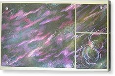 Nebula II Triptych Acrylic Print by Mark Golomb
