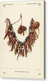 Necklace Of Human Fingers Acrylic Print by Art And Picture Collection/new York Public Library