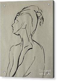 Neckline Acrylic Print by Peter Piatt