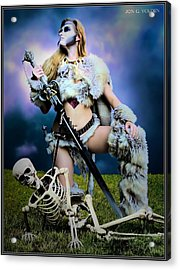 Necromancer On The Killing Fields Acrylic Print