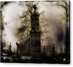 Necropolis Gate And Crow Acrylic Print by Gothicrow Images