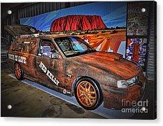 Ned Kelly's Car At Ayers Rock Acrylic Print by Kaye Menner