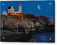 Neddick Lighthouse Acrylic Print by Susan Candelario