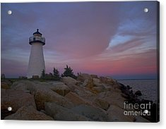 Ned's Point At Sunset Acrylic Print